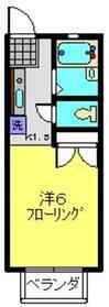 ハイツ持田2階Fの間取り画像
