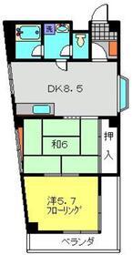マンション平成4階Fの間取り画像