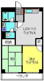 武蔵小杉駅 徒歩29分3階Fの間取り画像