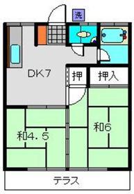 三平荘1階Fの間取り画像