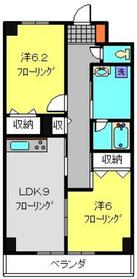 ディアコート・ドエル3階Fの間取り画像