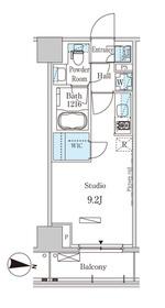 パークアクシス木場キャナル ウエスト5階Fの間取り画像