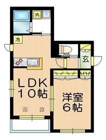 サン アディュ・K1階Fの間取り画像