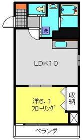 カーサ・マツダ3階Fの間取り画像
