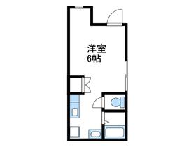 仮松が枝町新築アパート1階Fの間取り画像