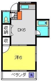 第一南荘2階Fの間取り画像