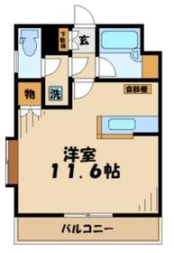 黒川駅 徒歩4分2階Fの間取り画像
