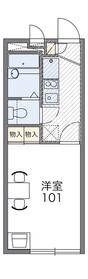 本厚木駅 バス20分「山中陣屋跡公園前」徒歩4分1階Fの間取り画像