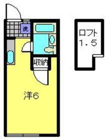 ハイツ古沢2階Fの間取り画像