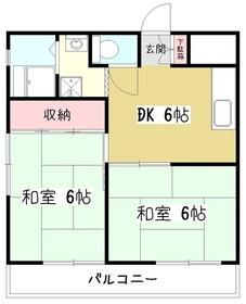 シャトーミノル5階Fの間取り画像
