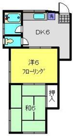 第5丸福荘2階Fの間取り画像