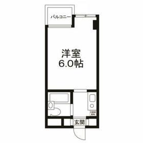二子玉川駅 徒歩22分4階Fの間取り画像