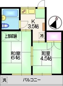 大塚コーポ2階Fの間取り画像
