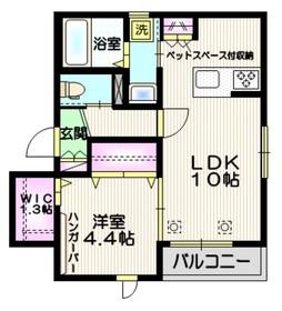 仮称 大戸4丁目メゾン ペット共生2階Fの間取り画像