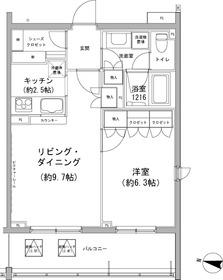 石川台駅 徒歩8分1階Fの間取り画像