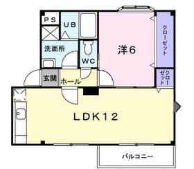 メゾンエクセランⅢ2階Fの間取り画像