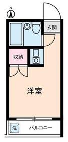 グルメゾン川崎2階Fの間取り画像