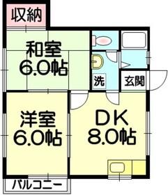 メゾンセントラル2階Fの間取り画像