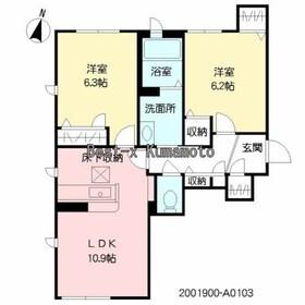 ラ・シャルール.1階Fの間取り画像