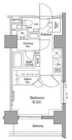 ザ・パークハビオ西横浜4階Fの間取り画像