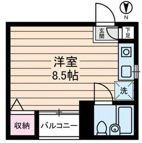 江古田ハイツ2階Fの間取り画像