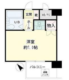 ヴェラハイツ鶴見3階Fの間取り画像