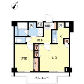スカイコート新宿弐番館4階Fの間取り画像