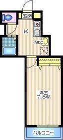 メゾン片倉2階Fの間取り画像