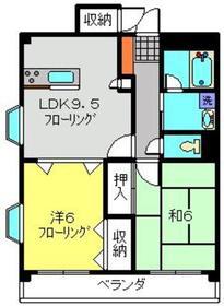 ゆたかマンション2階Fの間取り画像