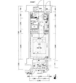 エステムプラザ横濱みなとみらいウエスト7階Fの間取り画像