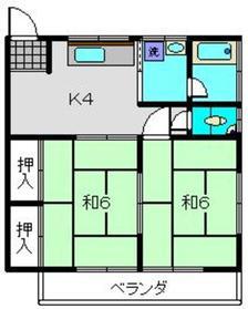 神奈川坂荘A1階Fの間取り画像