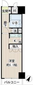 NICアーバンハイム鶴見中央5階Fの間取り画像