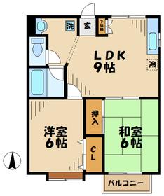 海老名駅 車14分5.5キロ2階Fの間取り画像
