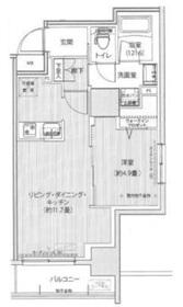 グランフォークス神田イーストタワー12階Fの間取り画像