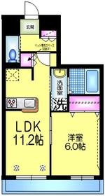 リベラル コート 1号館 3階Fの間取り画像