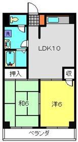 第11むさしマンション4階Fの間取り画像