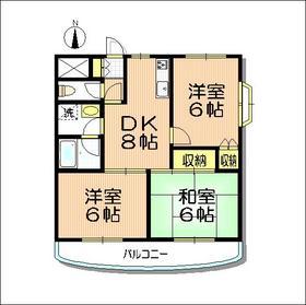戸田公園ステイタス8階Fの間取り画像