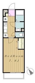 リブリ・プランドールSAGAMI2階Fの間取り画像
