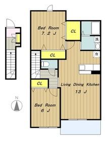 ア・モウトI2階Fの間取り画像