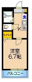 メゾン・マユ2階Fの間取り画像