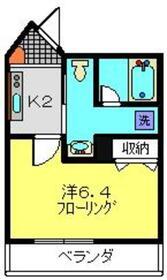 クレドメゾン東神奈川3階Fの間取り画像