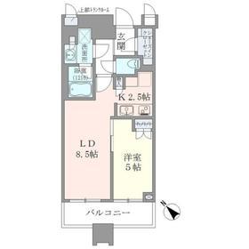 BrilliaTowers目黒ノースレジ3階Fの間取り画像