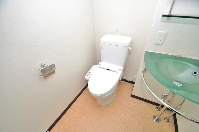 プラ・ディオ徳庵セレニテ 白くてピカピカのトイレですね。癒しの空間になりそう。