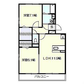 AXIS原宿五番館2階Fの間取り画像