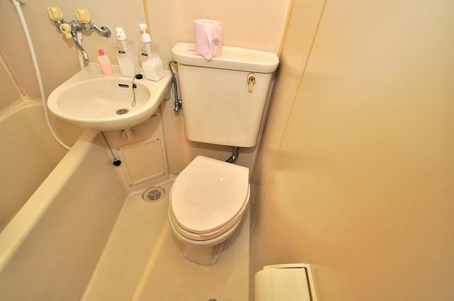 浅田ハイツ お風呂・トイレが一緒なのでお部屋が広く使えますね。