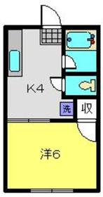 元住吉駅 徒歩18分1階Fの間取り画像