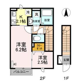 サンクタス OMORI2階Fの間取り画像