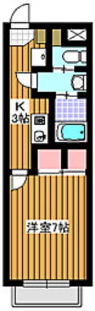 サンライズハウスB棟間取図