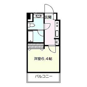 ヴァンヴェール24階Fの間取り画像