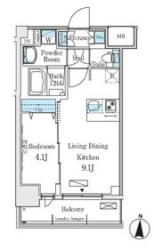 ディームス東陽町Ⅱ3階Fの間取り画像